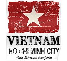 Vietnam Flag - Vintage Look Poster