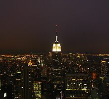 Empire State Building - Night View by Caesar Padilla