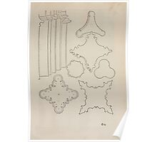 Measurement With Compass Line Leveling Albrecht Dürer or Durer 1525 0081 Repeating Shapes Poster
