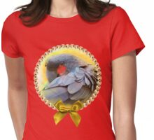 Black Palm Cockatoo realistic painting Womens Fitted T-Shirt