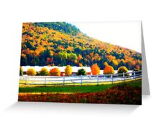 Horse Farm in Vermont Greeting Card