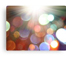abstract bokeh background and sun-rays Canvas Print