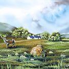 Blackrock cottage Scottish Highlands painting  by gordonbruce
