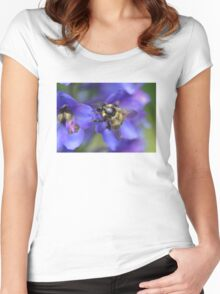 Bombus hortorum On Delphinium sp. Women's Fitted Scoop T-Shirt