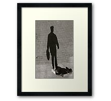 Flat Cap Shadow - Lindfield Framed Print