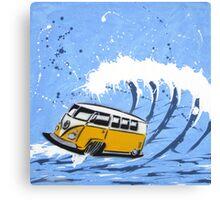 Splitty Wave 02 Painting Canvas Print
