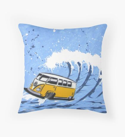 Splitty Wave 02 Painting Throw Pillow
