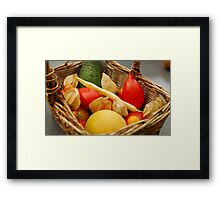 Harvest - Fruit and Vegetables Framed Print