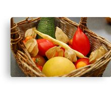 Harvest - Fruit and Vegetables Canvas Print