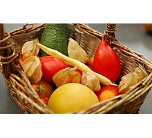 Harvest - Fruit and Vegetables Photographic Print