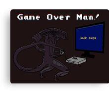 Game Over Man! uhh... xenomorph! Canvas Print