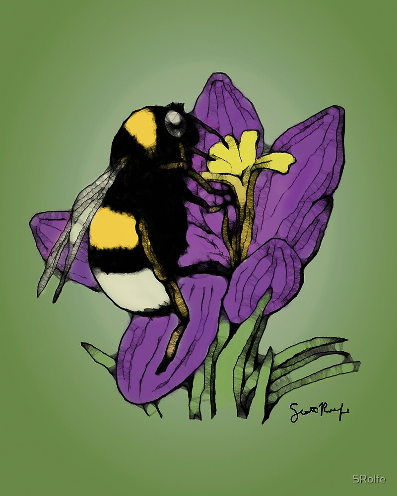 Bumblebee on a Flower by SRolfe