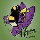 Bumblebee on a Flower by SRolfe