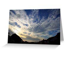 Broken Sky over Bury UK Greeting Card
