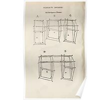 Famous Painter Parts Human Body Symmetry Four Books Geomety 1557 Albrecht Durer 0242 Boxes Position Poster