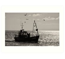 To land the catch. Art Print