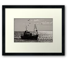 To land the catch. Framed Print