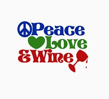 Peace love and wine Womens Fitted T-Shirt
