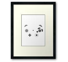 Gamecube Controller Buttons - Dark Framed Print