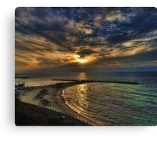 Tel Aviv hypnotizing sunset Canvas Print