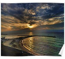 Tel Aviv hypnotizing sunset Poster