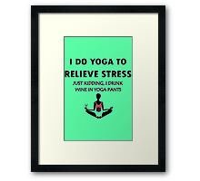 Funny yoga geek funny nerd Framed Print