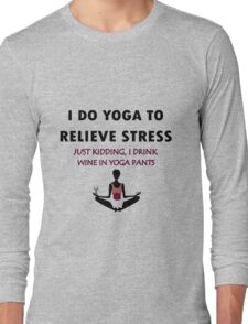 Funny yoga geek funny nerd Long Sleeve T-Shirt