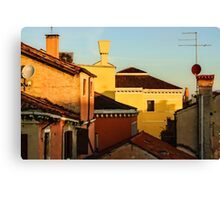 Impressions of Venice - Choose a Hotel With a Roof Terrace  Canvas Print