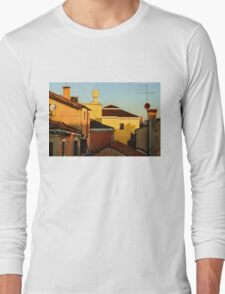 Impressions of Venice - Choose a Hotel With a Roof Terrace  Long Sleeve T-Shirt