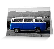 Retro VW Campervan Greeting Card