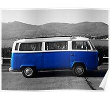 Retro VW Campervan Poster