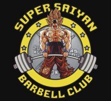 Super Saiyan Barbell Club by oolongtees