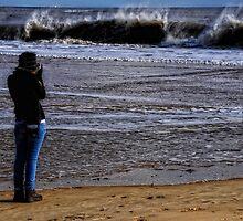 Grace wave watching by Karen  Betts