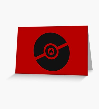Pokemon Pokeball Fire  Greeting Card