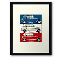 Renault 3 and 4 tricouleur Framed Print