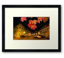 Quebec streets Framed Print
