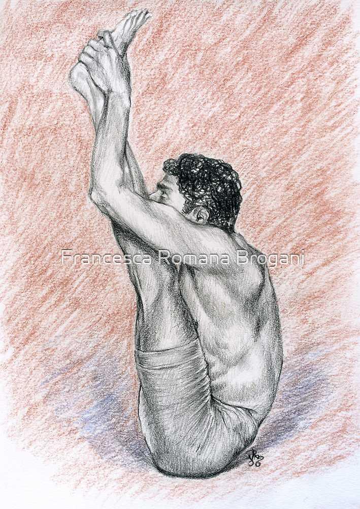 R. Sharath-Urdhva Mukha Paschimattanasana by Francesca Romana Brogani