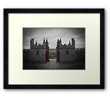 Red Gates Framed Print