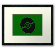 Pokemon Pokeball Grass Framed Print