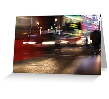 Evening Rush at Piccadilly Circus, London Greeting Card