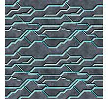 Cyber Glow blue Pattern Photographic Print