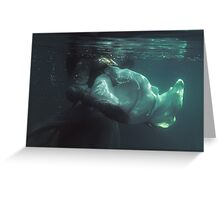 Underwater melancholy Greeting Card