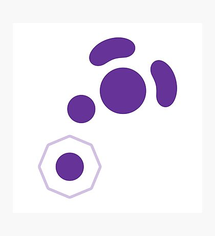 Gamecube Controller Button Symbol - Purple Photographic Print