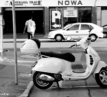 Easy Parking - Black and White - Adelaide by PEEP