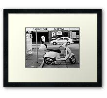 Easy Parking - Black and White - Adelaide Framed Print