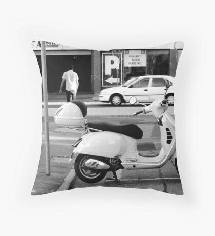 Easy Parking - Black and White - Adelaide Throw Pillow