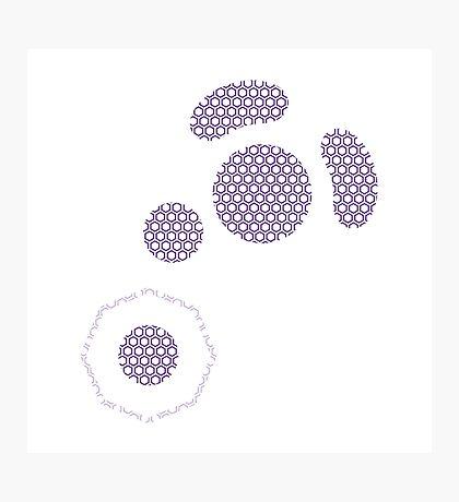 Gamecube Controller Button Symbol - Purple Hexagon Photographic Print