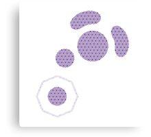 Gamecube Controller Button Symbol - Purple Hexagon Logo Canvas Print