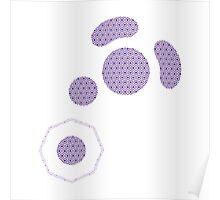 Gamecube Controller Button Symbol - Purple Hexagon Logo Poster