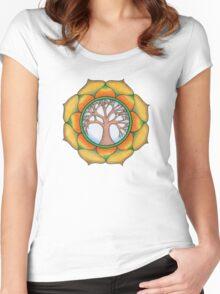 Tree of Life Mandala Women's Fitted Scoop T-Shirt